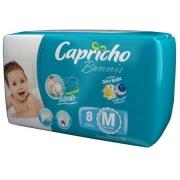 FRALDA INFANTIL BUMMIS TAM M - PACOTE JUMBINHO COM 8 UNIDADES - CAPRICHO