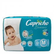 FRALDA INFANTIL BUMMIS TAM m - PACOTE JUMBO COM 32 UNIDADES - CAPRICHO
