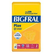 FRALDA PLUS NORMAL PACOTE COM 11 UNIDADES - BIGFRAL - TAM JUVENIL