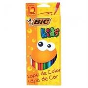 LÁPIS DE COR 12 CORES SEXTAVADO KIDS - 9302552 - BIC