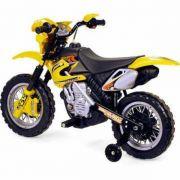 MOTO ELÉTRICA MOTOCROSS AMARELA - HOMEPLAY - BJ010