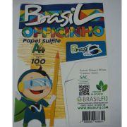 PAPEL SULFITE A4 BRANCO 75G - PACOTE 100 FOLHAS - BRASILOFFICE