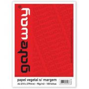 PAPEL VEGETAL GATEWAY 4-4 63G.S/ MARGEM PCT 100 UNIDADES VISITEX