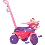 TRICICLO INFANTIL MOTOBAN PASSEIO  PREMIUM ROSA - BANDEIRANTES -836