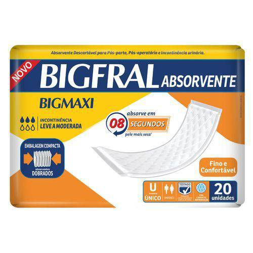 ABSORVENTE BIGMAXI 20 UNIDADES - BIGFRAL