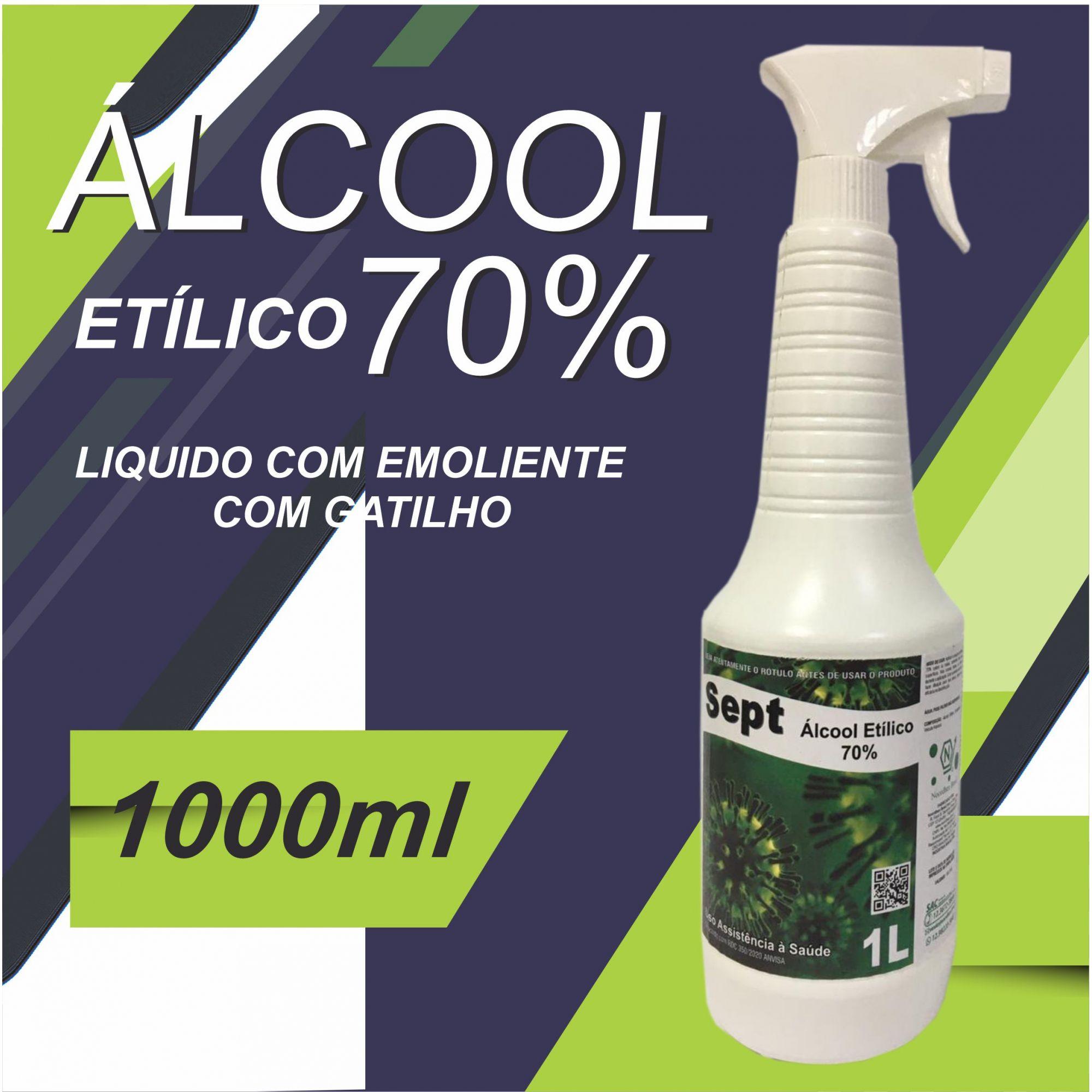 ÁLCOOL ETÍLICO 70% COM GATILHO  1 LITRO - SEPT