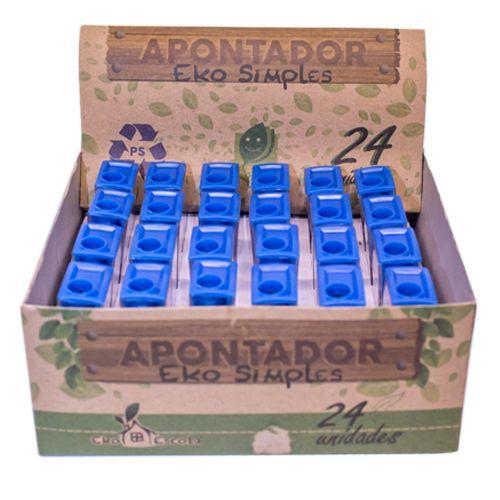 APONTADOR SIMPLES EKO - BE10002-24 - EKOESCOLA - CAIXA C/24 UNIDADES
