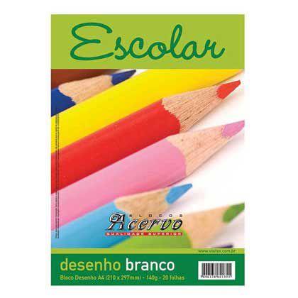 BLOCO ACERVO ESCOLAR A4 COM 140G 20 FOLHAS - 5114 - VISITEX
