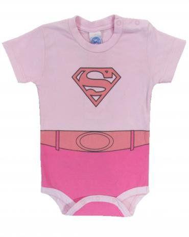 BODY MANGA CURTA SUPER GIRL - TAM P/ M/ G/GG - CT02 - GET BABY