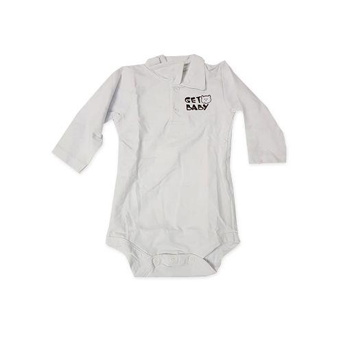 BODY MANGA LONGA BABY URSO TAM P - CT05 - GET BABY