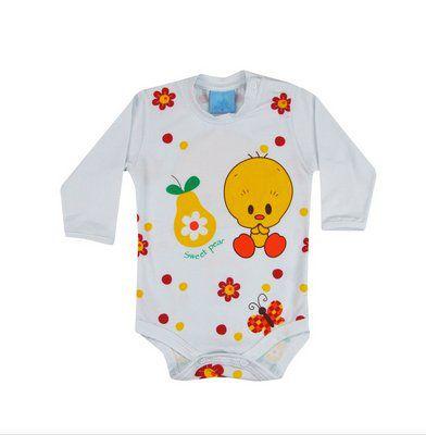 BODY MANGA LONGA LOONEY TUNES BABY PIU PIU TAM /P/M/G/XG - CT01 - GET BABY