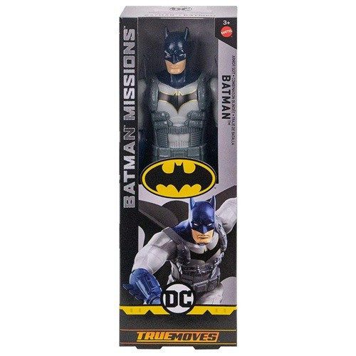 BONECO BATMAN COM ARMADURA - BATMAN MISSIONS DC TRUE MOVES - FVM75 - MATTEL