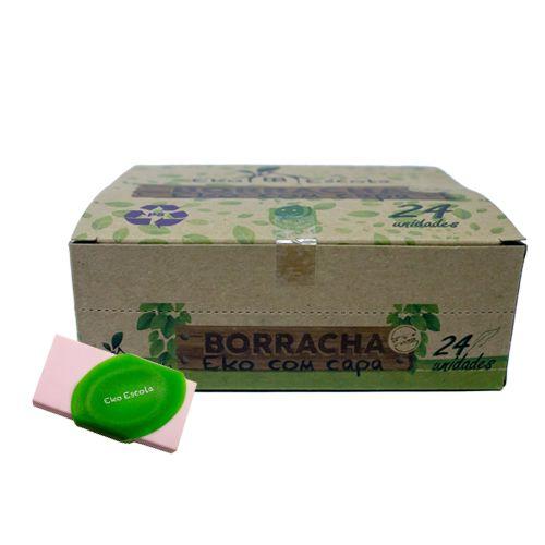 BORRACHA  ESCOLAR COM CAPA EKO- BE10003-24 - EKOESCOLA - UNIDADE