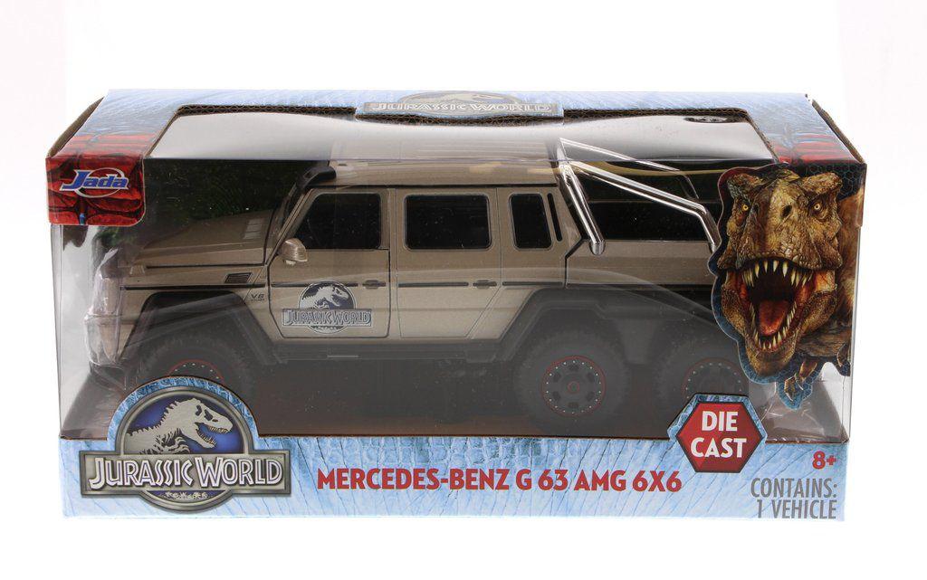 CARRINHO MERCEDES-BENZ G63 AMG 6X6 JURASSIC WORLD - 97080 -  JADA TOYS