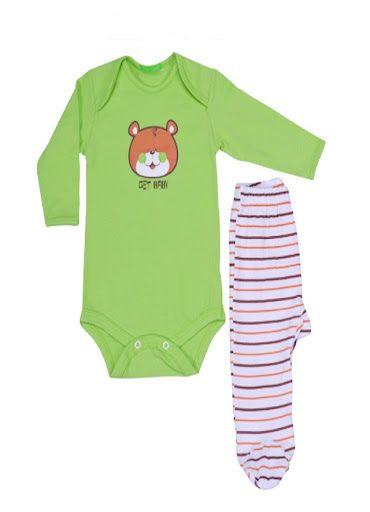 CONJUNTO BODY MANGA LONGA E CALÇA - TAM: RN/ P/ M/ G - CT01 - GET BABY