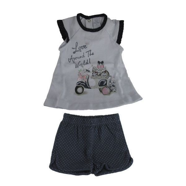 CONJUNTO CAMISETA E SHORTS LOVE TAM G/3/ 1   - CT02 - FK