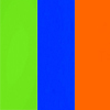 Verde, Azul e Laranja