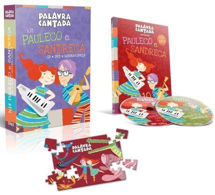 DVD + CD + QUEBRA-CABEÇA - KIT PAULECO E SANDRECA - 1006 - MCD
