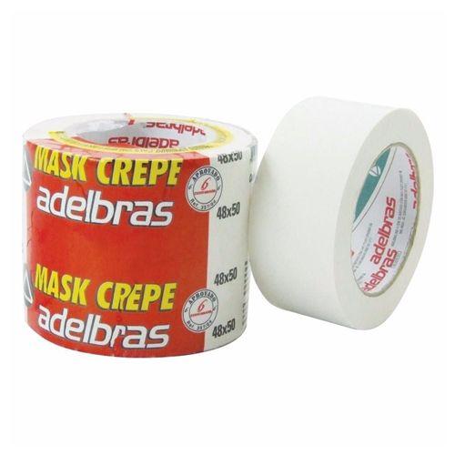 FITA CREPE 48X50MM - ADELBRAS - PACOTE C/2 ROLOS