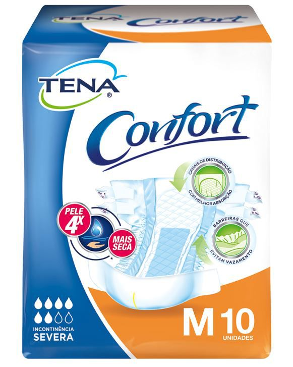 FRALDA CONFORT 10 UNIDADES TAM M - TENA