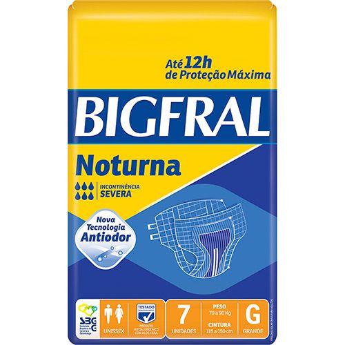 FRALDA NOTURNA PACOTE COM 7 UNIDADES - BIGFRAL - TAM G