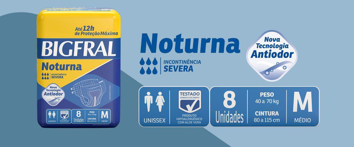 FRALDA NOTURNA PACOTE COM 8 UNIDADES - BIGFRAL - TAM M