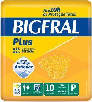 FRALDA PLUS NORMAL PACOTE COM 10 UNIDADES - BIGFRAL - TAM P