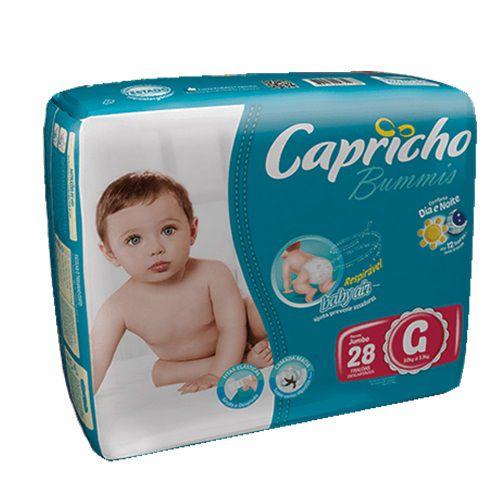 FRALDA INFANTIL BUMMIS TAM G - PACOTE COM 28 UNIDADES - CAPRICHO