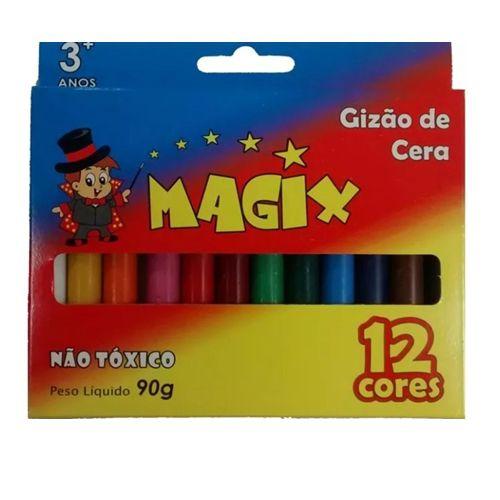 GIZÃO DE CERA 90G - MAGIX - CAIXA C/12 CORES