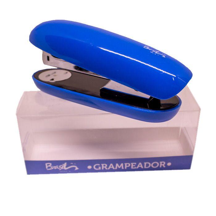 GRAMPEADOR COLOR  20FLS AZUL - BB31068-AZ - BRASILOFFICE - UNIDADE
