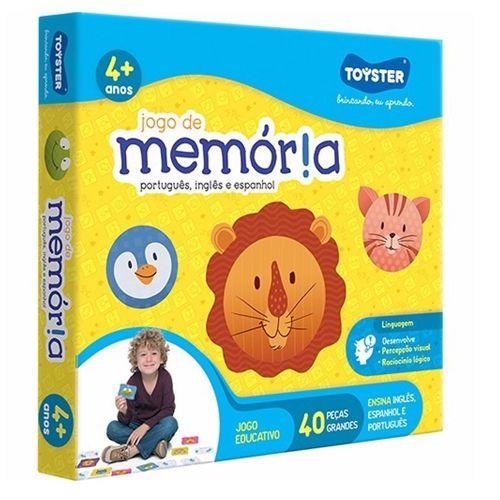 JOGO DA MEMÓRIA PORT, ING E ESP - 2156 - TOYSTER