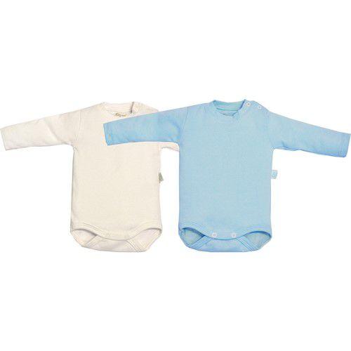 KIT 2 BODY MANGA LONGA - AZUL E BRANCO - TAM: RN/ P/ M - CT03 - GET BABY