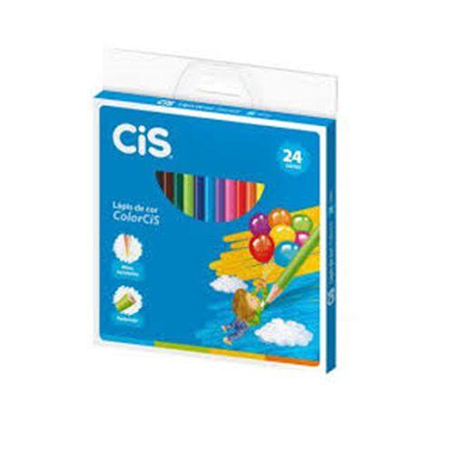 LÁPIS DE COR CIS REDONDO 24 CORES - CIS - CX 1