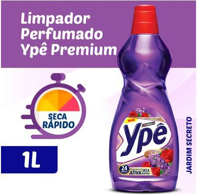 LIMPADOR PERFUMADO JARDIM SECRETO - 1 LITRO - YPÊ PREMIUM