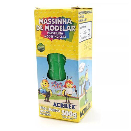 MASSINHA DE MODELAR 500G VERDE - 513 - ACRILEX