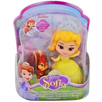 MINI FIGURA DISNEY PRINCESINHA SOFIA  - PRINCESA AMBER E WHATNAUGHT - 1620 - SUNNY
