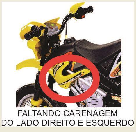 MOTO ELÉTRICA MOTOCROSS AMARELA - HOMEPLAY - BJ008 - REEMBALADO/MOSTRUÁRIO
