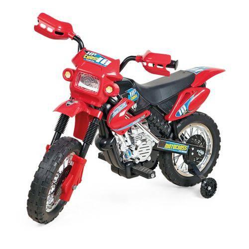 REEMBALADO/MOSTRUÁRIO - MOTO ELÉTRICA MOTOCROSS VERMELHA - HOMEPLAY - BJ011