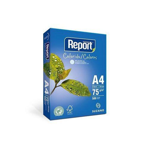 PAPEL A4 COLOR  75 GRAMAS PACOTE COM 500 FOLHAS - REPORT - RESMA