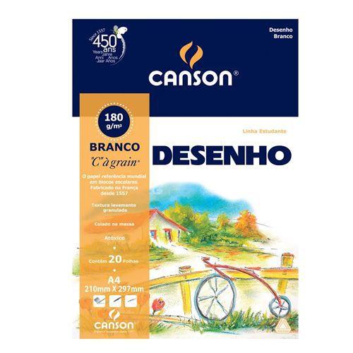 PAPEL DESENHO A4 BRANCO - 66667064 - CANSON - PACOTE C/20 FOLHAS