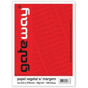 PAPEL VEGETAL GATEWAY 4-4 63G.S/ MARGEM PCT 100 UNIDADES VISITEX