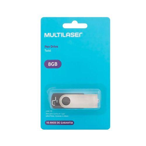 PEN DRIVE MULTILASER 8 GB - PD587 - MULTILASER