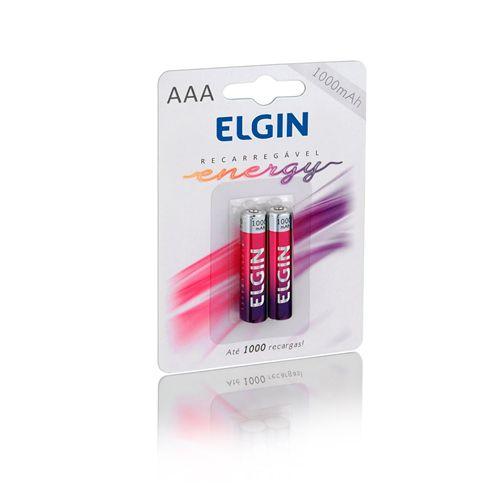 PILHA RECARREGÁVEL AAA – 900 MAH - 82170 - ELGIN - BLISTER C/2 PILHAS
