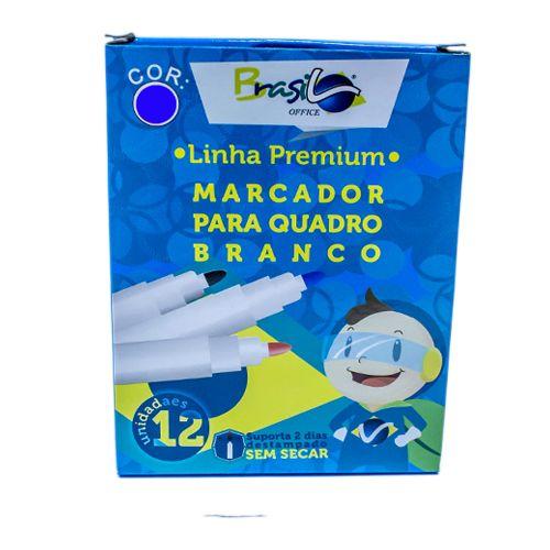 PINCEL PARA QUADRO BRANCO  AZUL - BB80079-AZ - BRASILOFFICE - CAIXA C/12 UNIDADES