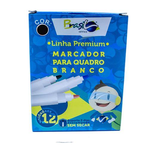 PINCEL PARA QUADRO BRANCO PRETO - BB80077-PR - BRASILOFFICE - CAIXA C/12 UNIDADES