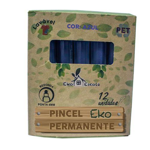 PINCEL PERMANENTE EKO COR AZUL - BE10041-AZ - EKOESCOLA - UNIDADE
