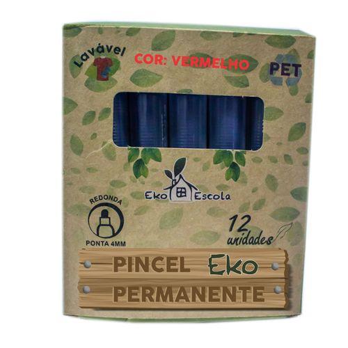 PINCEL PERMANENTE EKO COR VERMELHO - BE10041-VM - EKOESCOLA - UNIDADE