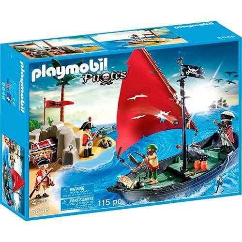 PLAYMOBIL NAVIO PIRATA COM SOLDADOS - 5646 - SUNNY