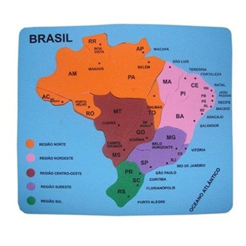 QUEBRA-CABEÇA EM E.V.A - MAPA DO BRASIL - EDUART
