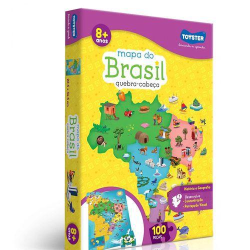 QUEBRA-CABEÇA MAPA DO BRASIL - 2063 - TOYSTER